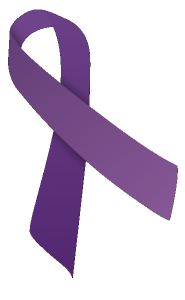 Clear Purple Ribbon